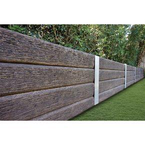 Ridgi 150mm X 50mm X 1 5m Ironbark Reinforced Concrete Sleeper Concrete Sleepers Landscaping Retaining Walls Concrete Sleeper Retaining Walls