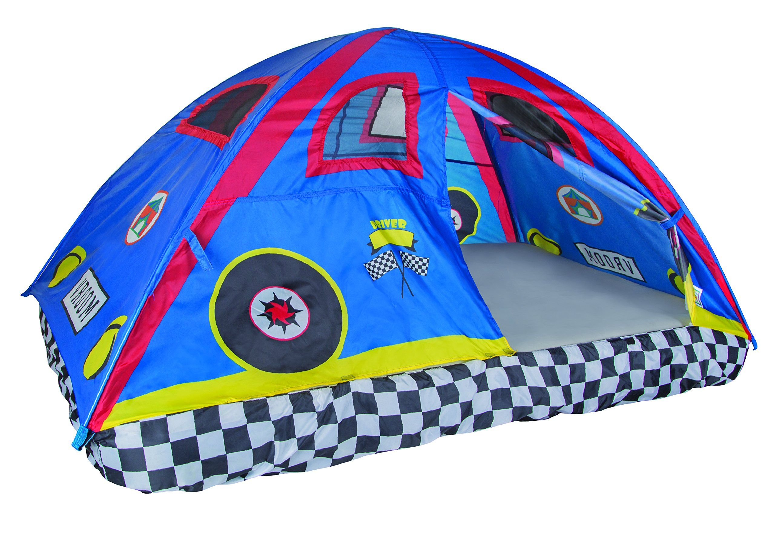 Pacific Play Tents Kids Rad Racer Bed Tent Playhouse For Full Size