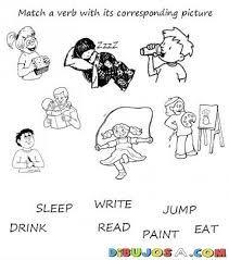 Resultado De Imagen Para Verbos En Ingles Con Sus Dibujos Verbos