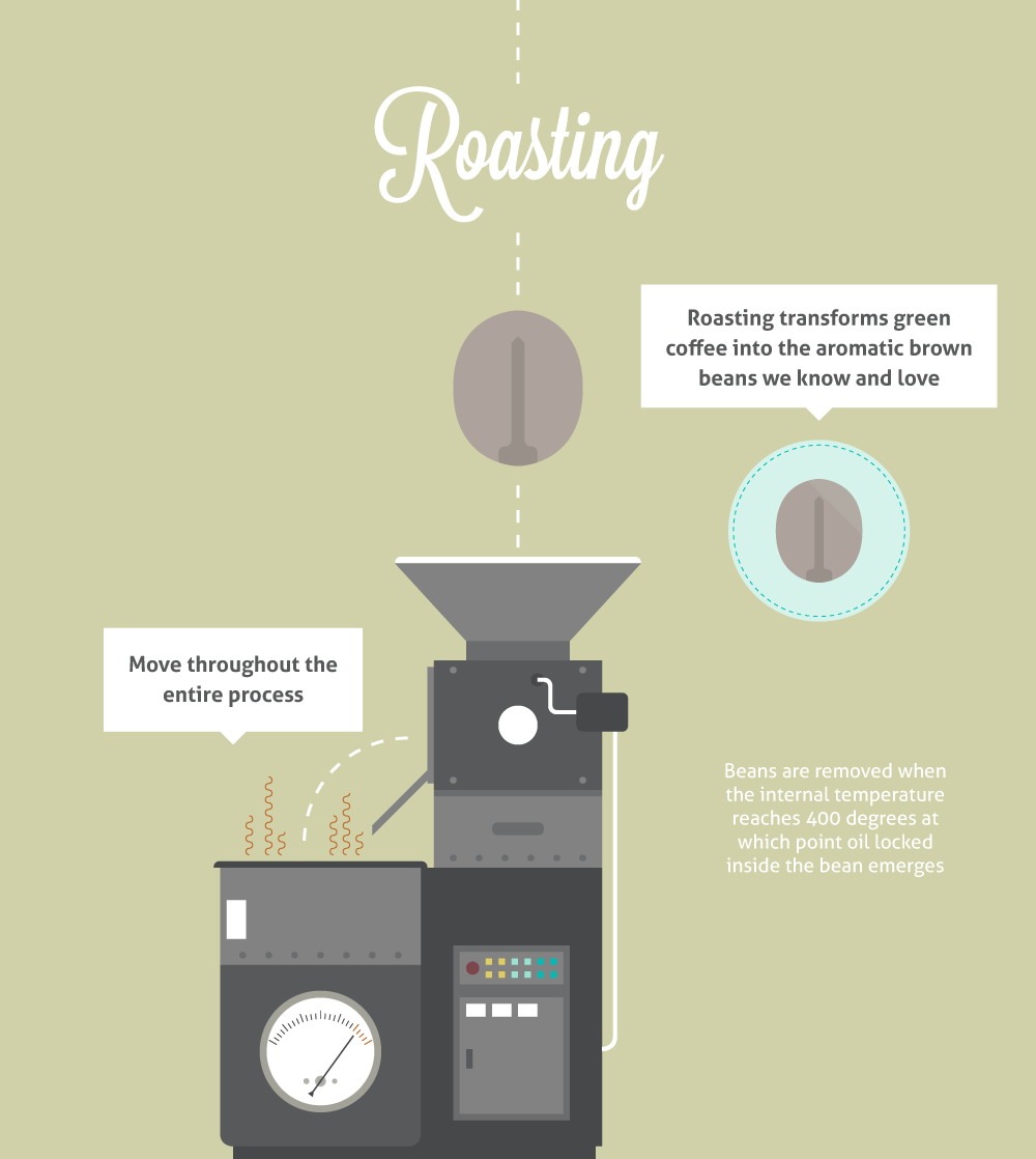 Coffee roaster illustrations pinterest a journey from bean to cup pooptronica Images