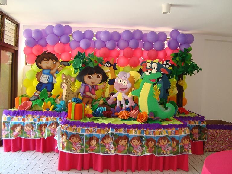 1st Birthday decorationsParty Centerpiece Any Character Dora