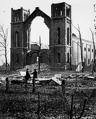 Picture Of Aftermath Of Great Chicago Fire Of October 8 1871