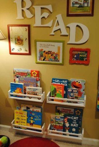 Reading Nook Ikea Spice Rack Kids Storage Kids Playroom