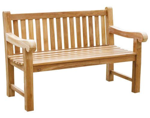 kmh 2er teak gartenbank sitzbank gartenm bel holzbank teakbank parkbank bank in garten. Black Bedroom Furniture Sets. Home Design Ideas