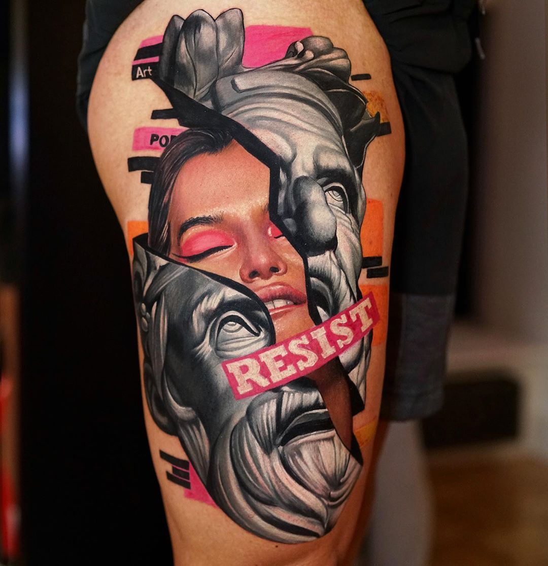 Artist Dave Paulo Location Portugal Want A Tattoo But Can T Find A Great Artist Or Studio Come To The World In 2020 Pop Art Tattoos Tattoos Tattoo Artists