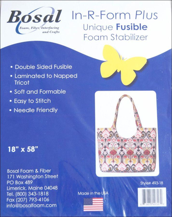 Bosal In R Form Single Sided Fusible Foam Iliser Bobbin Bag Making Supplies