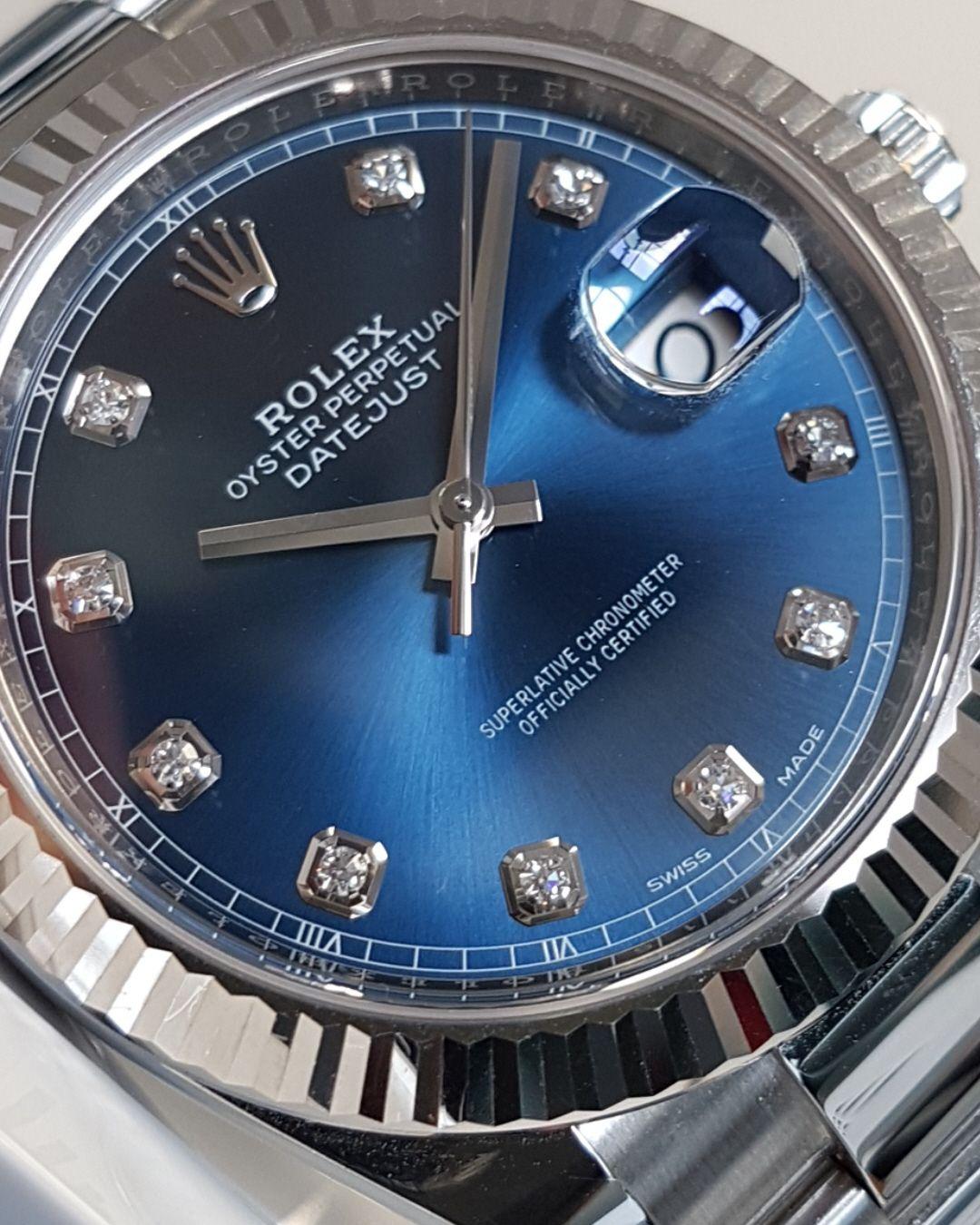 91382ce608a Rolex Datejust 41 Blue Diamond Dial 126334   Men's watches   Rolex ...