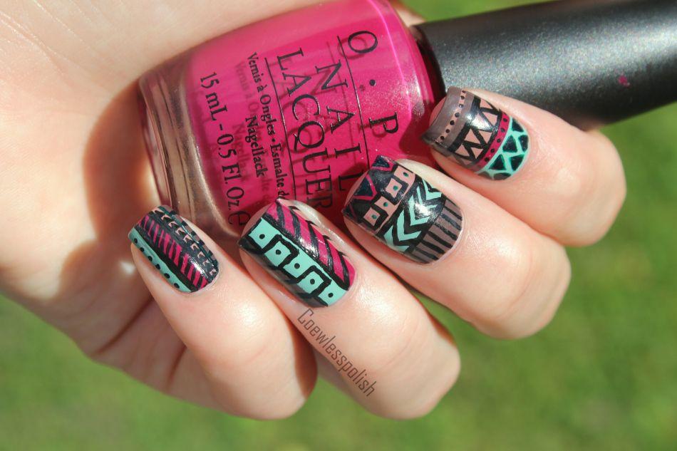 tribal print #nails