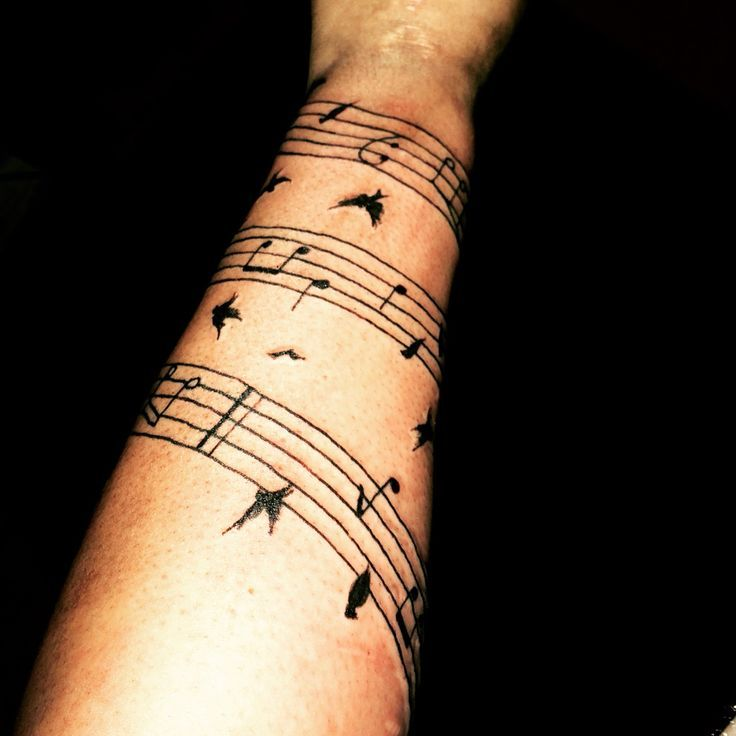 Image Result For Full Sleeve Tattoos With Sheet Music With Images