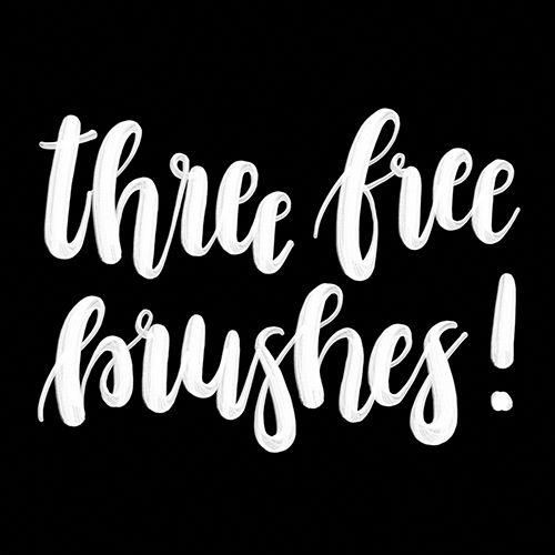 Free Lettering Brush Sets for iPad Pro iPadProCase iPad