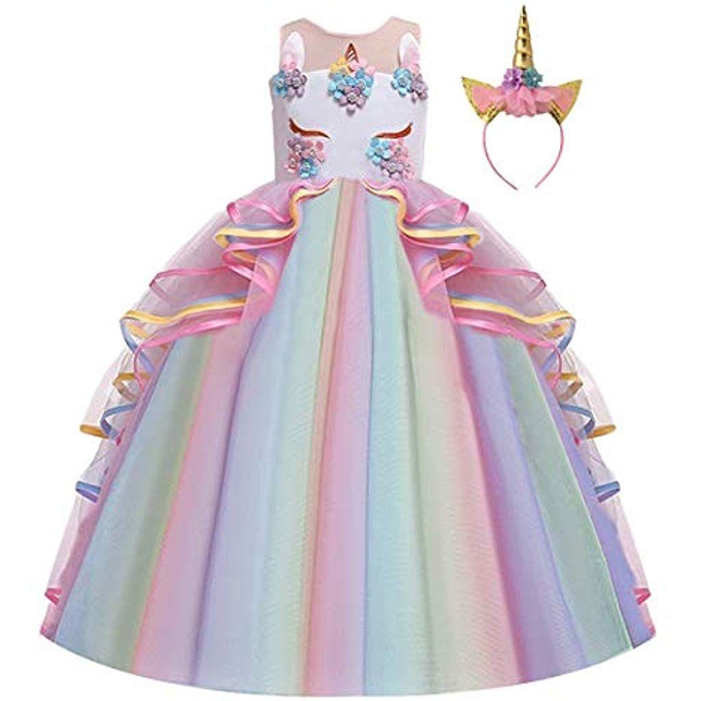Vestito Cerimonia 15 Anni.Fmyfwy Costume Carnevale Unicorno Principessa Ragazze Compleanno