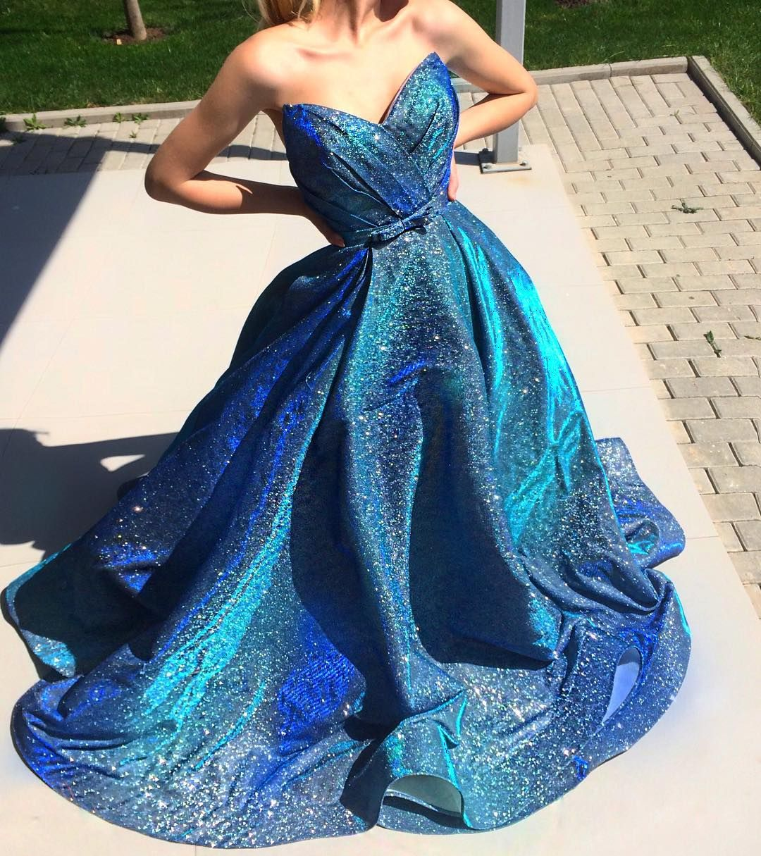 Teutamatoshiduriqi Tmd Sneakpeek Galaxy Prom Dresses Modest Pretty Dresses Dresses [ 1215 x 1080 Pixel ]