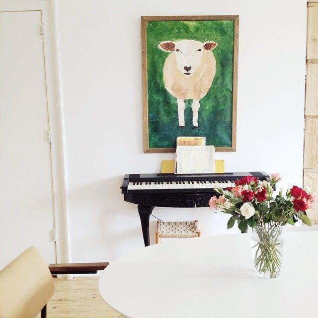 sheep and piano