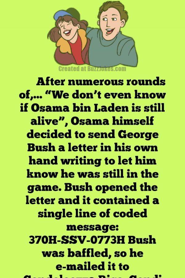 American Politician Funny Joke: Bush, Osama Bin Laden ...