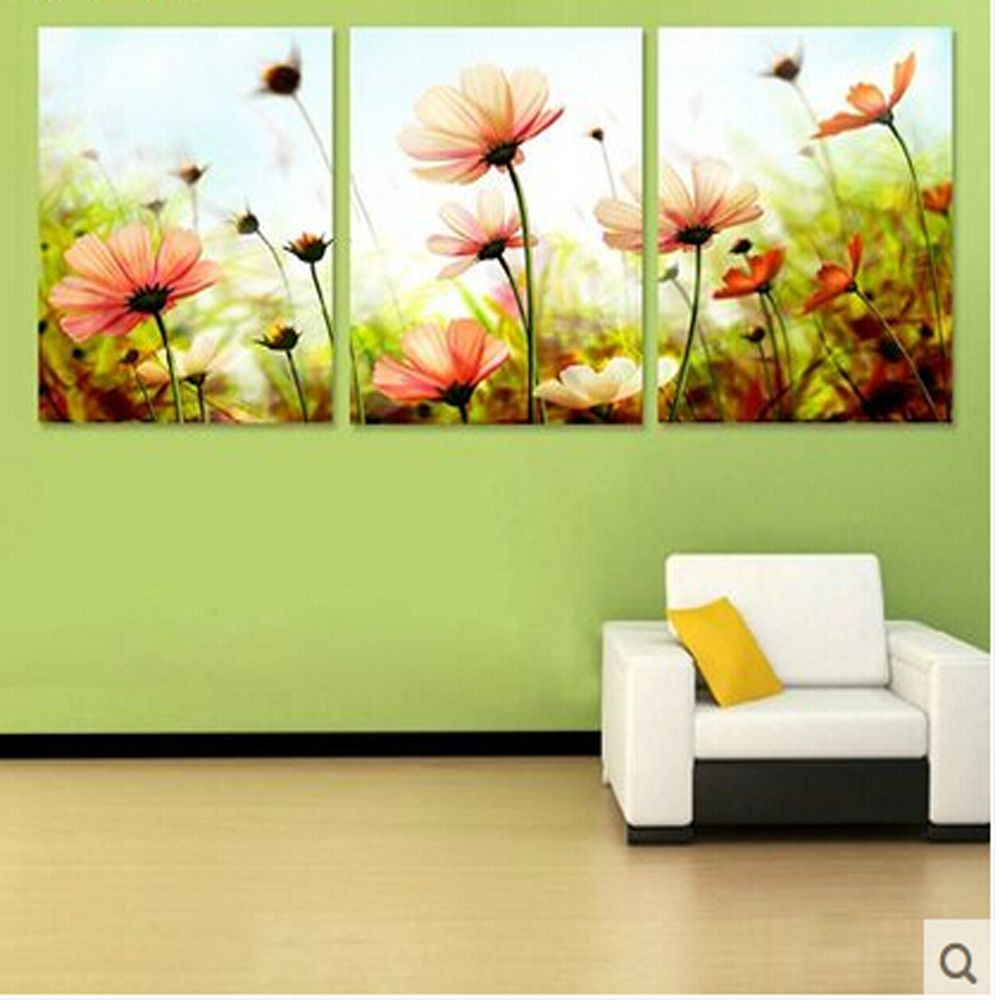 Three-picture Combination painting by numbers vintage home decor ...