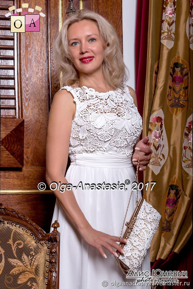 """Photo of Irish lace. Dress """"Bride"""", author …"""