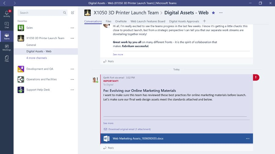 Microsoft Teams Is Now Live For Office 365 With Some Nifty New Features Microsoft Business Essentials Sharepoint