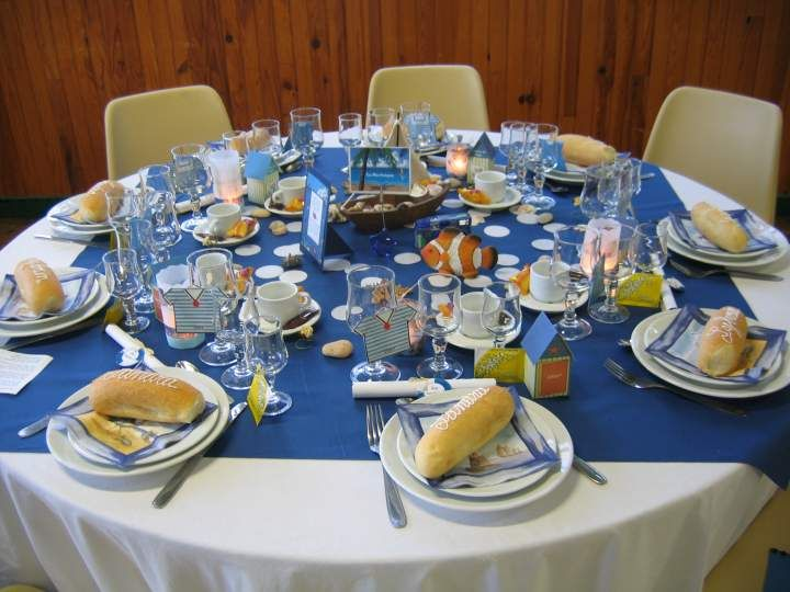 id e d coration de table mariage th me mer th me la mer table mariage decoration table. Black Bedroom Furniture Sets. Home Design Ideas