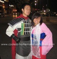Homemade Mulan and Shang Costumes These Mulan and Shang Costumes were made from fabric foam and cardboard paper.  sc 1 st  Pinterest & Coolest Mulan and Shang Costumes | Pinterest | Cardboard paper ...