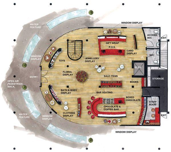 Retail Clothing Store Floor Plan Google Search Presentation Board Pinterest Retail