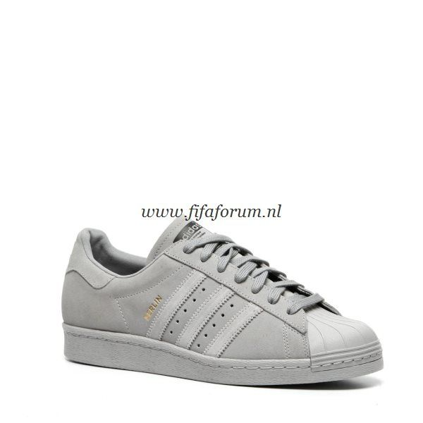 grijze adidas sneakers superstar 80s dames
