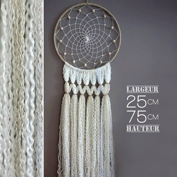 dream catcher unbleached wool attrape r ves pinterest attrape r ve capteurs de r ves et. Black Bedroom Furniture Sets. Home Design Ideas