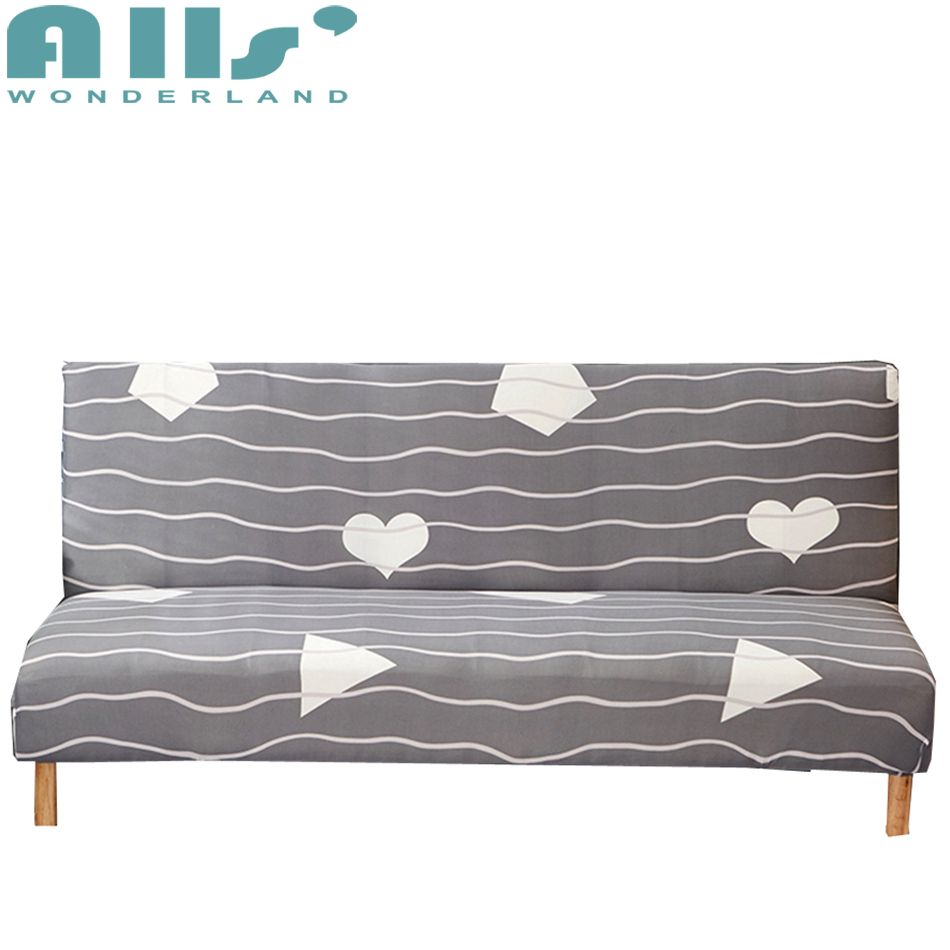 Modern Stripes Armless Couch Sofa Bed Slipcovers For Living Room