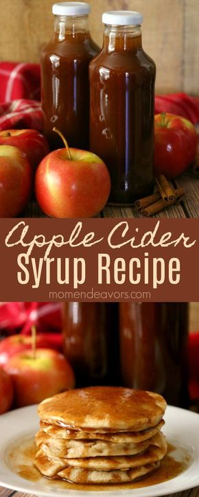 Apple Cider Syrup Recipe - perfect for fall pancakes & waffles.