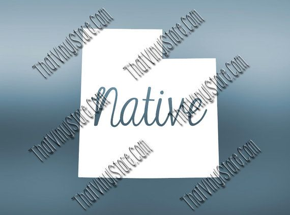 Utah home decal utah state decal homestate by thatvinylstore