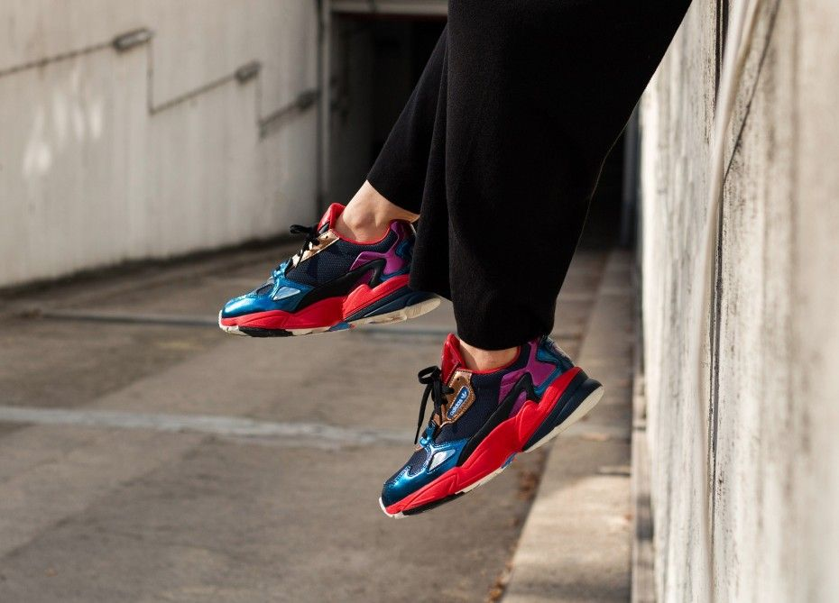 3706a1af1b887b adidas Falcon W (Collegiate Navy   Collegiate Navy   Red) in 2019 ...