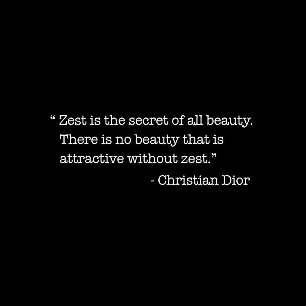 Zest is the secret…
