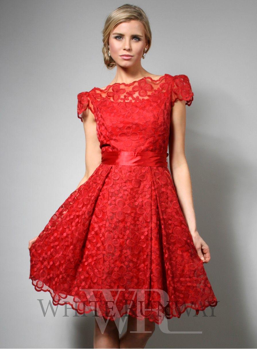 Cute kitchen tea dress lace cocktail dress red dress dress