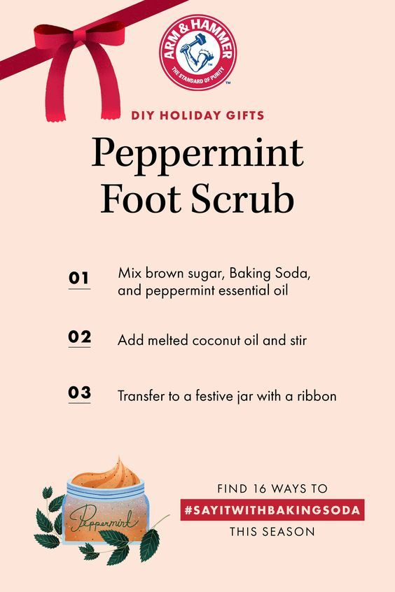 Holiday Gift Guide! Make Your Own Peppermint Foot Scrub.