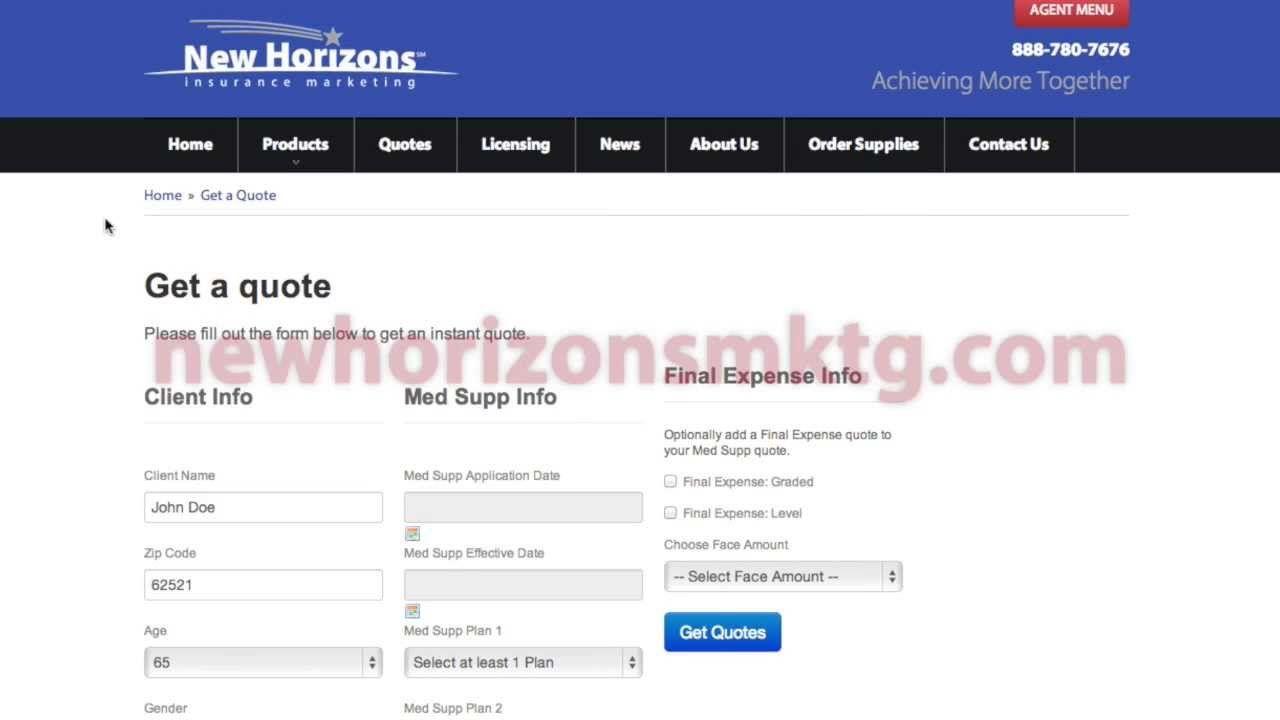 New Horizons Quote Engine