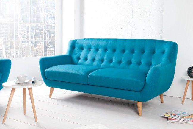 Couch design klassiker  Retro Designklassiker 3er Sofa SCANDINAVIA MEISTERSTÜCK petrol 3 ...