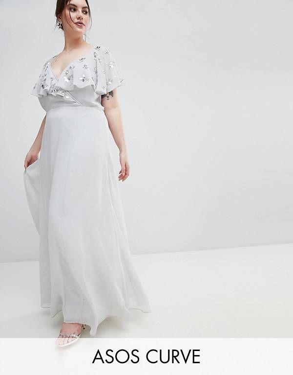 d144b64abf Maya Plus Sequin Cape Tulle Skirt Maxi Bridesmaid Dress | ASOS