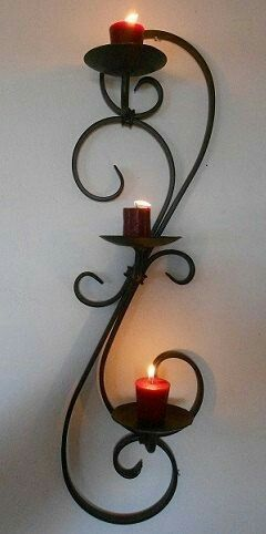 Pin De Edwin Vasquez En Wrought Iron Decoracion En Hierro Candelabros De Pared Hierro Forjado Decoracion