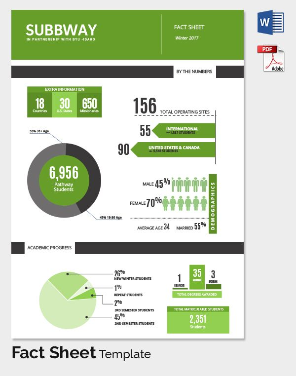 Freebie Of The Day Fact Sheet Templates