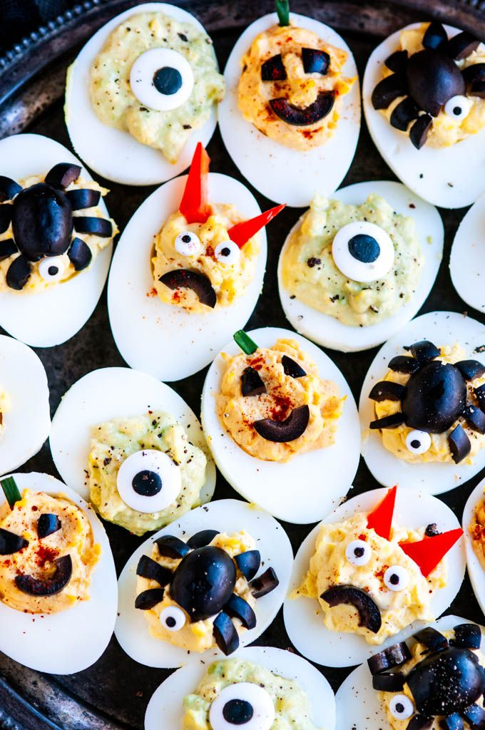 Halloween Deviled Eggs Recipe (With images) Halloween