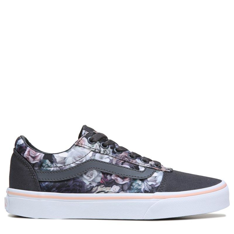 c361679e93 Vans Women s Ward Low Top Sneakers (Grey Floral Print)