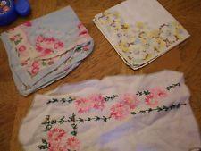 Vintage 2 Floral Hankerchiefs & 1 Floral Dolie,100 cotton,1947-1964,embroidered