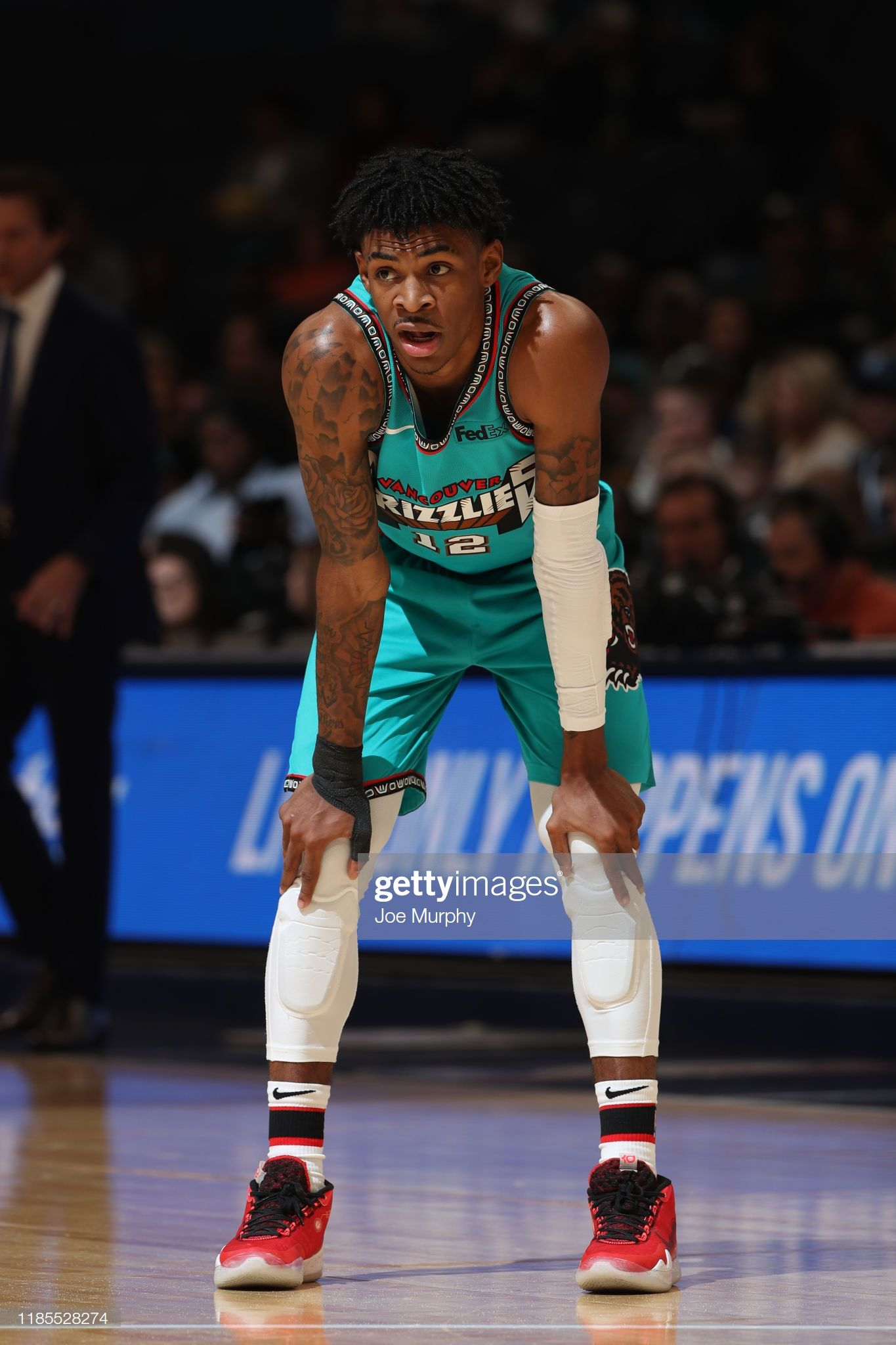Ja Morant of the Memphis Grizzlies looks on against the