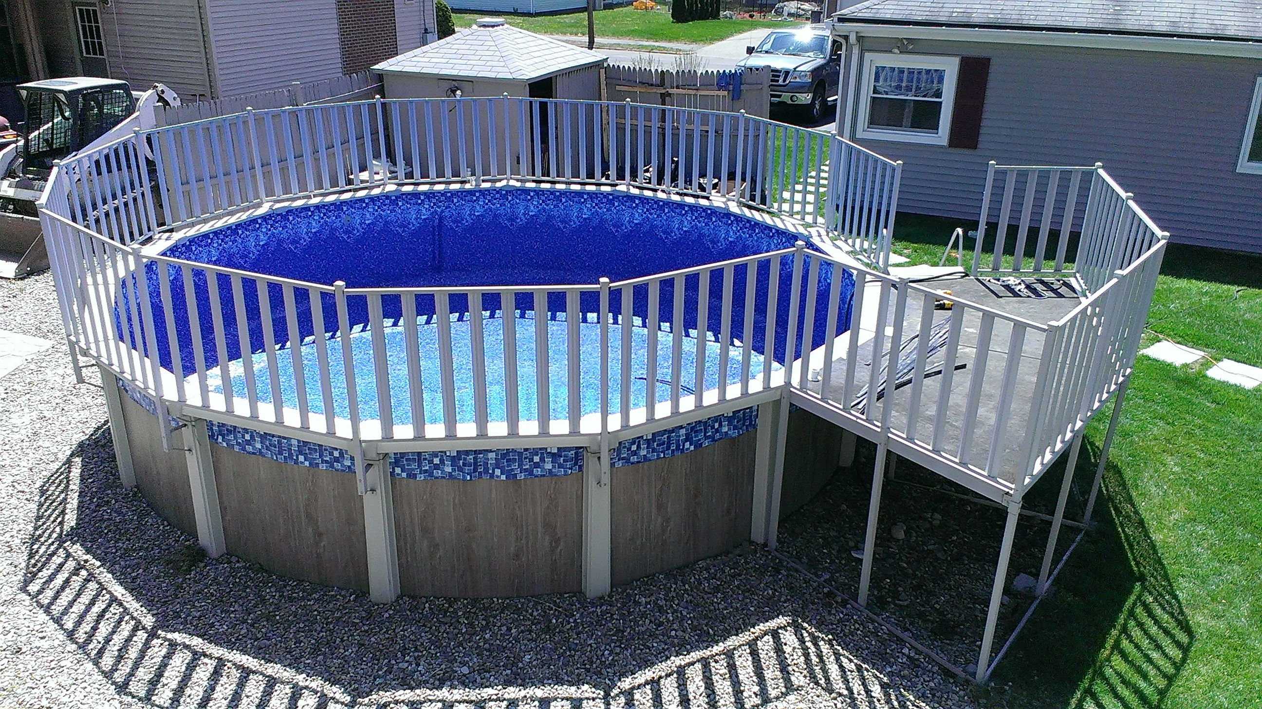 The best way to make an old pool look nice is to replace - Nice above ground pools ...