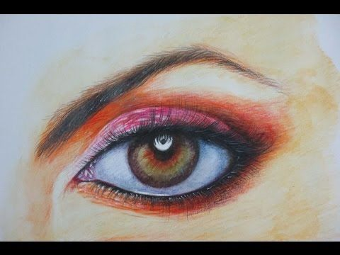 How To Draw A Realistic Eye With Watercolor Pencil Youtube