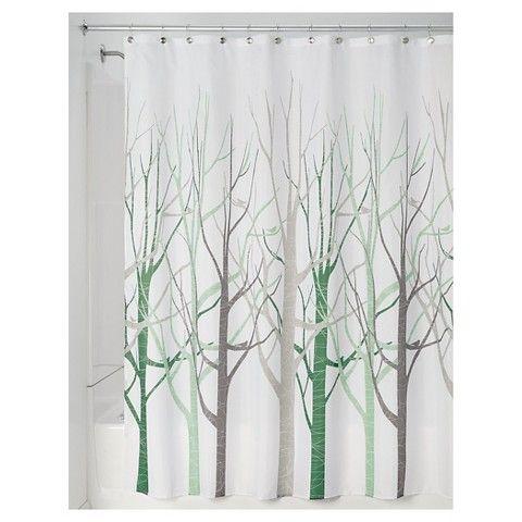 Interdesign Forest Shower Curtains Gray Fabric Shower Curtains