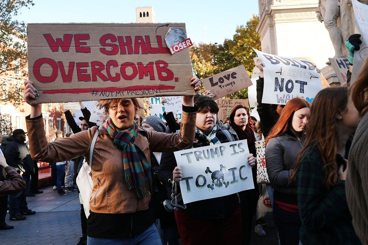 This is a photo of Striking Protest Sign Ideas Trump