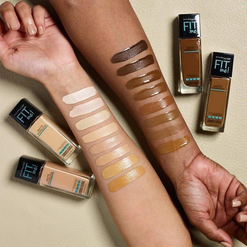 13 brands with wide foundation ranges and the swatches to