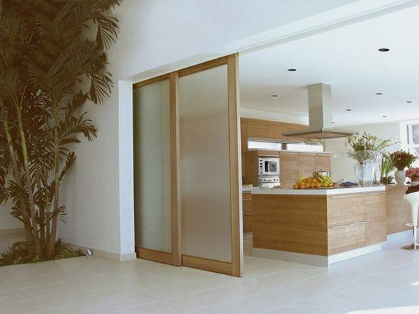 Schiebetüren-innen-holz-matt-glas-oberführung-schienen-küchejpg - schiebetür für küche