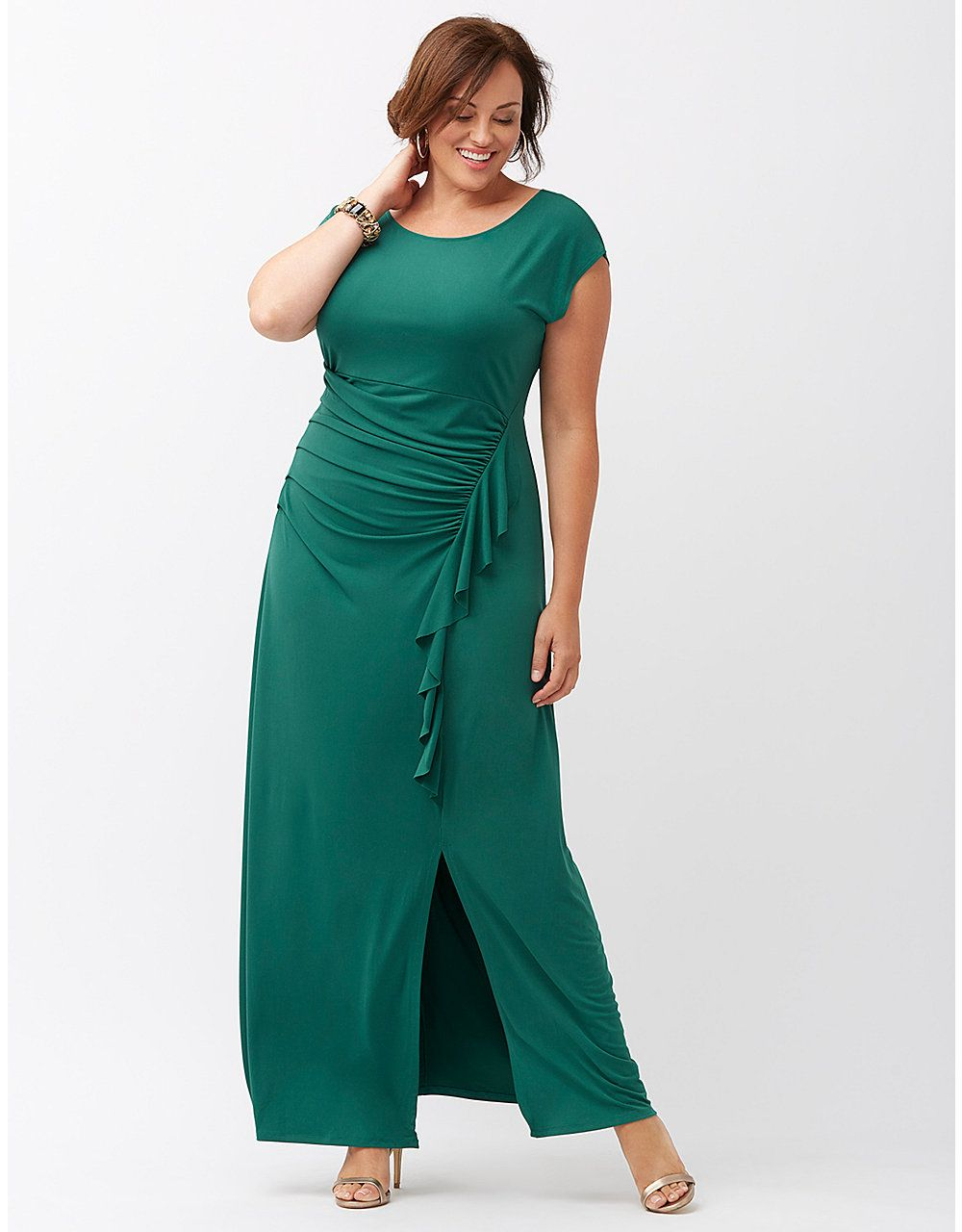 Ruffled maxi dress by Lane Bryant | Lane Bryant | Katering 2 The ...