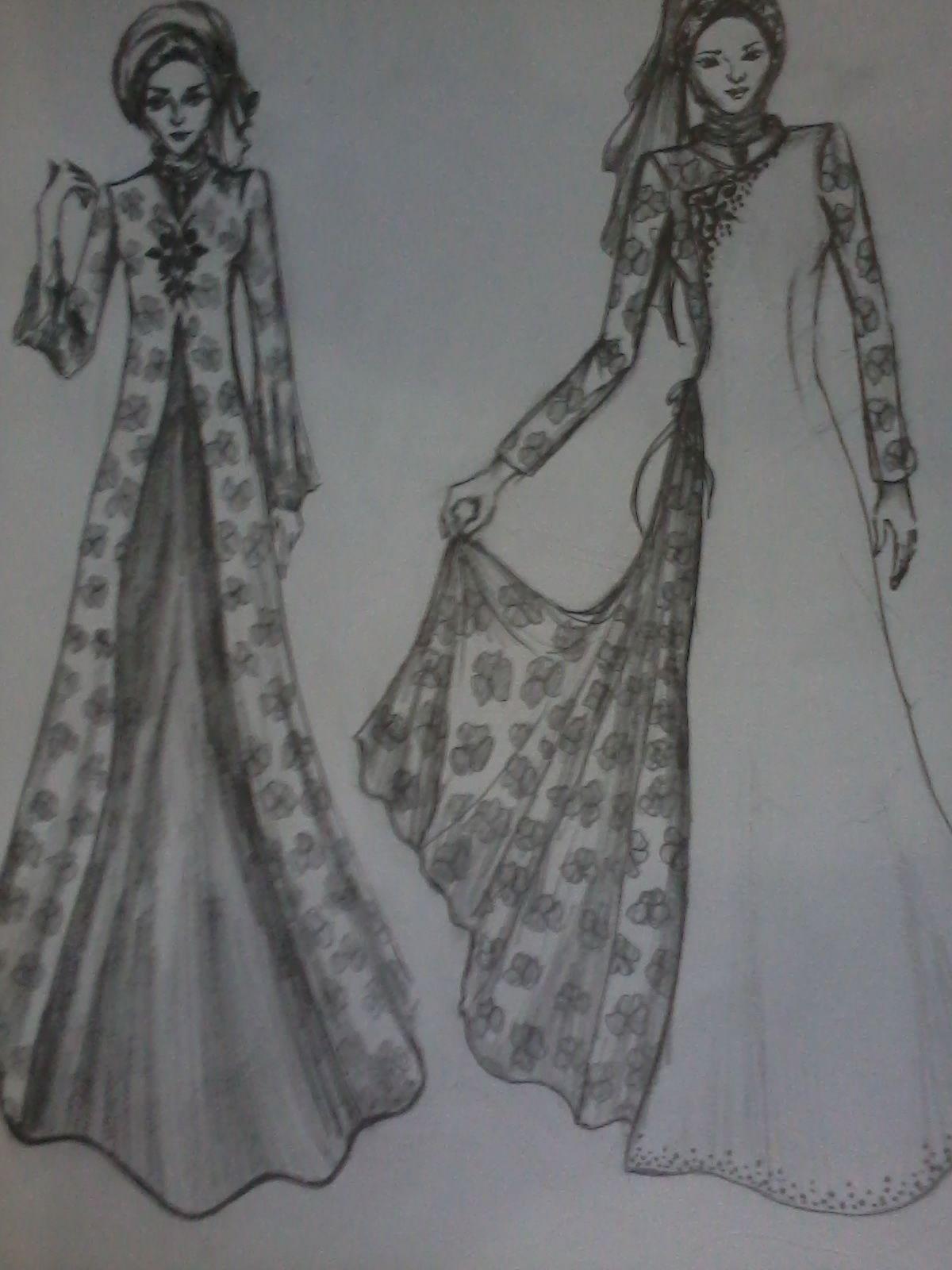 9 Contoh Desain Baju Gamis Modern di 9  Desain, Desain